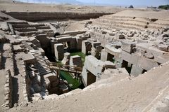 The Osirion temple at Abydos, Egypt. Royalty Free Stock Photo