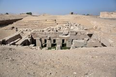 The Osirion temple at Abydos, Egypt. Stock Photo