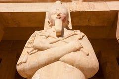 埃及上帝Osiris的雕象 免版税库存照片