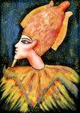 Osiris God en fondo del cielo nocturno ilustración del vector