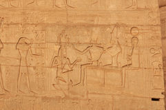 Osiris, Isis and Ramses II Royalty Free Stock Photos