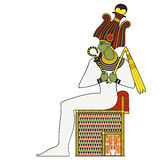 Osiris ,isolated figure of ancient egypt god Stock Photos