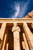 Osiris Statue at Hapshetpsut's Temple. Statue of the god Osiris at Hapshetpsut' Temple stock photos