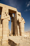 Osiris Statues.Temple Of Ramesses II. Egypt Stock Photography