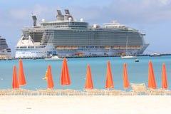 Oásis do forro do cruzeiro dos mares Foto de Stock