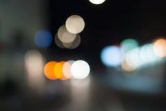 Oskarp natttrafik Royaltyfri Foto