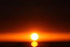 Oskarp solnedgång Arkivbilder