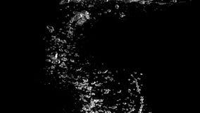 Oskarpa bilder av sodavattenbubblor som plaskar i svart bakgrund royaltyfri illustrationer