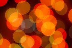 Oskarpa ljus för mångfärgad defocused bokeh, julljus, fe royaltyfria bilder