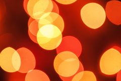 Oskarpa ljus för mångfärgad defocused bokeh, julljus, fe arkivbild