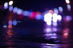 Oskarpa ljus på gatan Royaltyfri Fotografi
