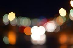 Oskarpa ljus på gatan Royaltyfria Bilder