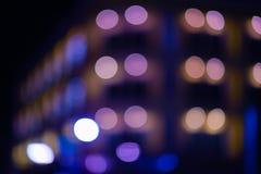 Oskarpa ljus på gatan Arkivbild