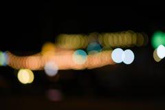 Oskarpa ljus på gatan Fotografering för Bildbyråer