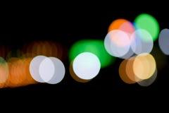 Oskarpa ljus på gatan Arkivfoto