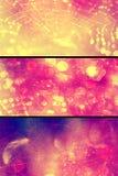 Oskarpa ljusa baner för rengöringsdukbokehrengöringsduk royaltyfri illustrationer