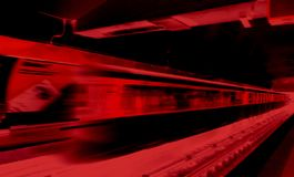 Oskarpt rörelsegångtunneldrev som används i digital konst royaltyfria bilder