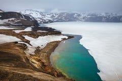 Oskjuvatn Lake Askja Volcano Crater Highlands Of Iceland Scandinavia Stock Images