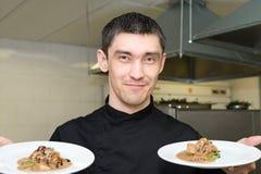 oskomy bonu szef kuchni życzenia obrazy stock