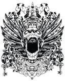 Oskrzydlona czaszka royalty ilustracja