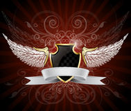Oskrzydlona osłona i sztandar Fotografia Royalty Free