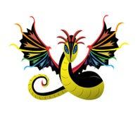 Oskrzydlona wąż tęcza Obrazy Stock
