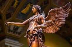 Oskrzydlonego zwycięstwa antyczna rzeźba Nika Fotografia Royalty Free