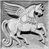 Oskrzydlony czarodziejski koń Fotografia Royalty Free