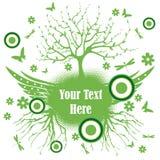 Oskrzydlony drzewo Zdjęcie Royalty Free