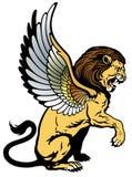 Oskrzydlony lew Obrazy Royalty Free