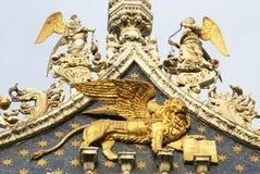 Oskrzydlony lew St Mark obrazy royalty free