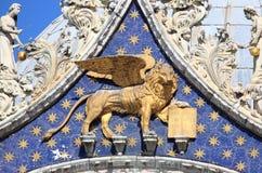 Oskrzydlony lew Wenecja zdjęcia royalty free