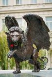 Oskrzydlony lwa pomnik w Praga republika czech Fotografia Royalty Free