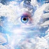 Oskrzydlony oko ilustracja wektor