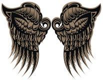 Oskrzydlony tatuaż Obraz Royalty Free