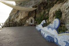 Oskuld av spårvagnsförare, Rincon de la Victoria, Malaga Spanien Arkivbild