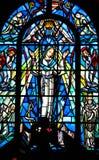Oskuld Mary Stained Glass Window Royaltyfri Fotografi