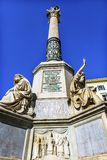 Oskuld Mary Statue Immaculate Conception Column Rome Italien Royaltyfria Foton