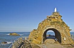 Oskuld på vagga av Biarritz Royaltyfri Bild