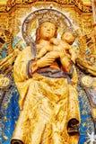Oskulden av Almudena (Virgen de la Almudena), Madrid, Spanien Arkivfoton