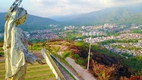 Oskulden av storstads- parkerar i Piedecuesta Colombia arkivfilmer