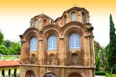 OskuldMary Halkeon kyrka Thessaloniki Arkivfoton