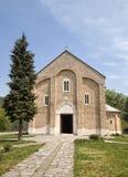 Oskulds kyrka av den Studenica kloster royaltyfria bilder