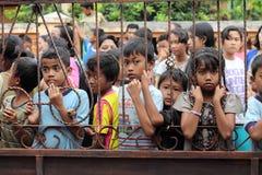 Oskyldig framsida av barn royaltyfria foton