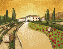Oskyldig Tuscany Royaltyfri Bild