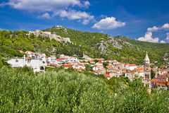 Osland of Hvar old town Stock Images