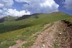 Oslea Mountain ridge. Hiking on Oslea Mountain Romania Royalty Free Stock Photography