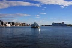 Oslo's schronienia nowy deptak łączy zwiedzać Zdjęcie Stock