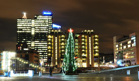 Oslo à Noël image libre de droits