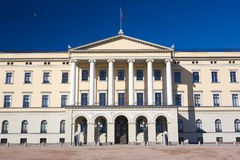 Oslo. Slottet (Royal Palace) in Oslo, Norway Stock Image